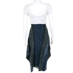 Anthropologie Skirts - RARE ANTHRO Sparrow Indigo Striations Poncho Skirt